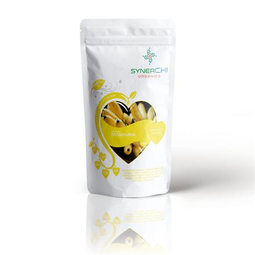 protein shake with baobab, pumpkin protein, hemp and banana powder