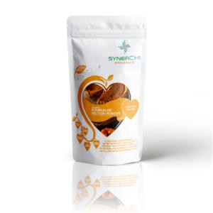 superfood shake with organic pumpkin protein powder