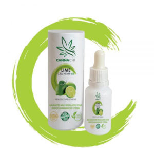 CBD oil lime bottle and outer pack