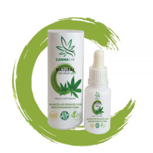 CBD oil natural bottle and outer pack