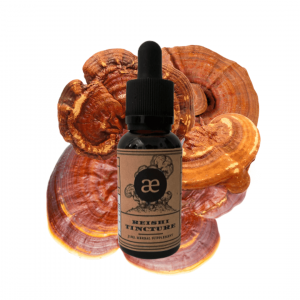 bottle of reishi tincture